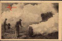 Anstecken von Nebeltöpfen, Erster Weltkrieg, Rauchgranaten, WHW