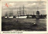 Segelschulschiffe Albert Leo Schlageter, Horst Wessel, Gorch Fock, Kriegsmarine