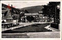 Ruhla in Westthüringen, Adolf Hitler Platz mit Landgrafenschmiede um 1942