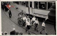 Ohligs Solingen in Nordrhein Westfalen, Erntedankfest 1. Oktober 1933, Straßenbahn Linie 1