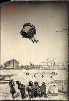 Jagdflieger im Sessel, Freier Fall, Soldatenhumor, Wehrmacht, Traum, II. WK