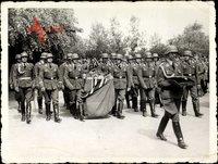 Foto Halle an der Saale, Beerdigung von Oberst Erdmann, Deutsche Wehrmacht, II. WK