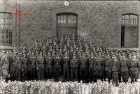 Foto Prenzlau in der Uckermark, Fliegerhorst, Luftwaffe, Uniformierte, Gruppenportrait, II. WK