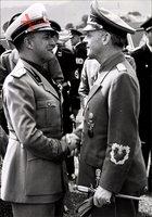 Foto Galeazzo Ciano, Schwiegersohn von Benito Mussolini, Außenminister,Joachim von Ribbentrop,II. WK