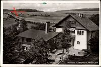 Kempenich Brohtal, Gasthaus Tannenhof, Gebäudeansicht und Blick in die Umgebung