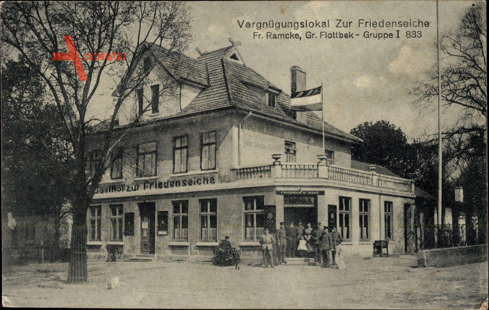 Hamburg Altona Flottbek, Gasthof zur Friedenseiche, Inh. Fr. Ramcke