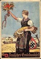Deutsches Erntedankfest, Reichserntedankfest, Feldarbeiterin, 01. Oktober