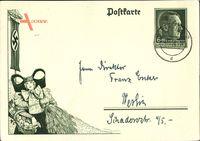 Ganzsachen Reichserntedankfest 1938, Bückeberg, Schaumburg Lippische Tracht