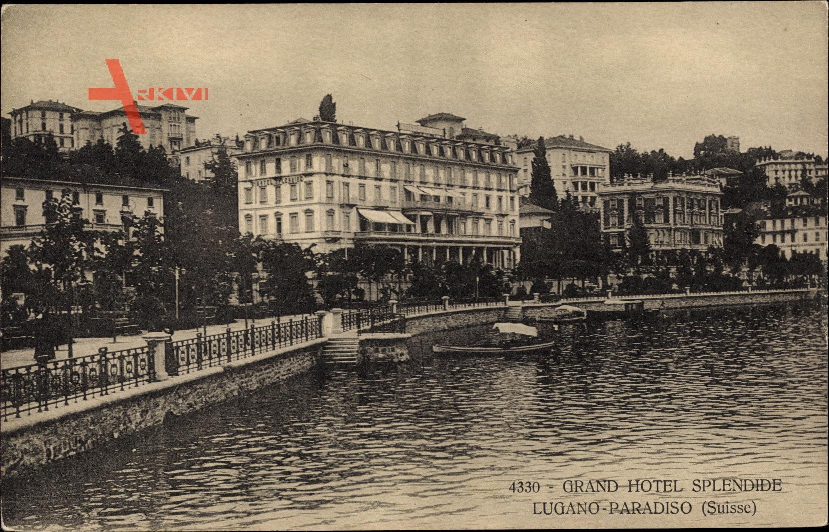 Lugano Paradiso Kt. Tessin Schweiz, Grand Hotel Splendide, Uferpartie