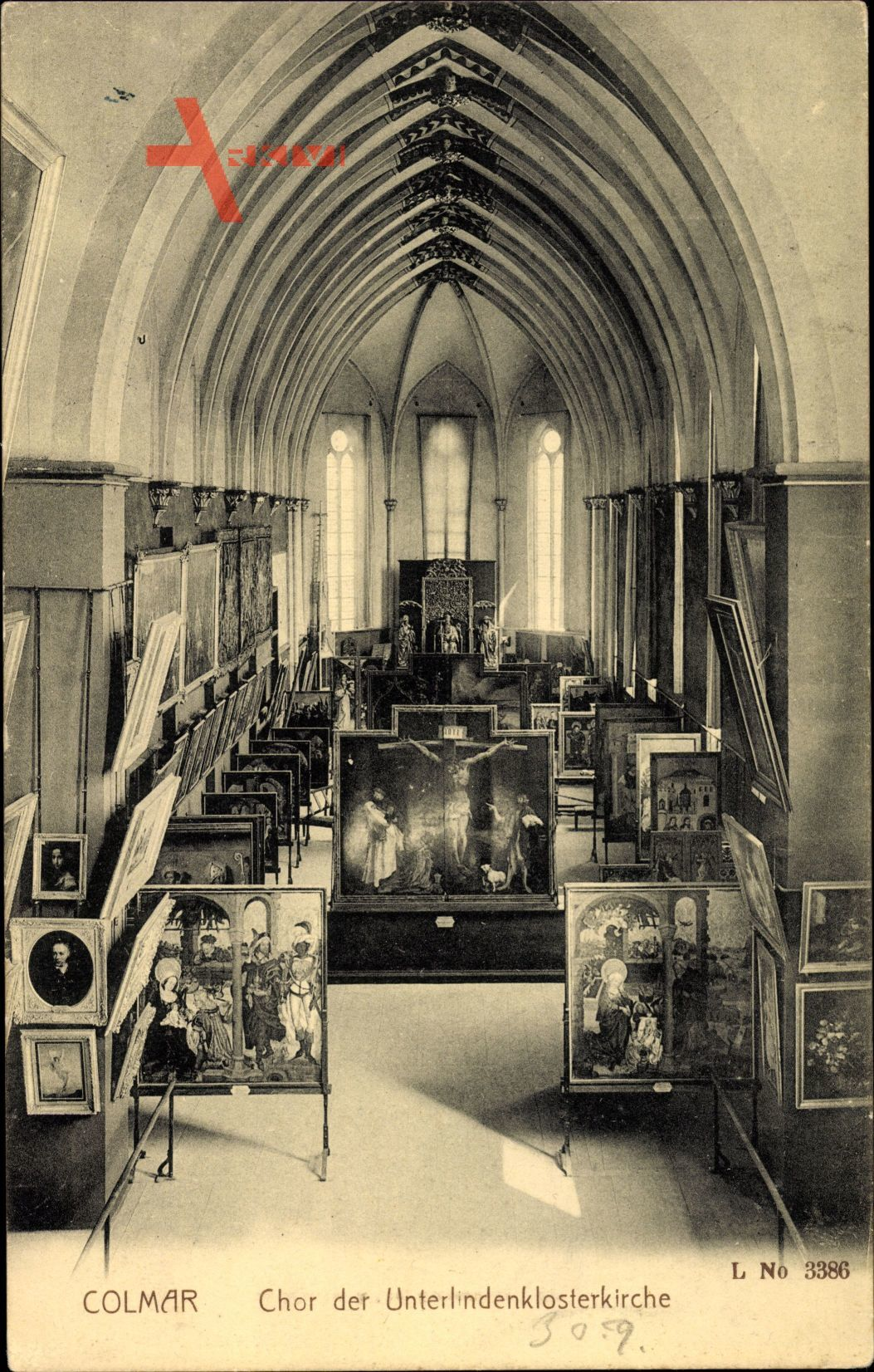 Colmar Kolmar Elsass Haut Rhin, Chor der Unterlinden Klosterkirche, Isenheimer Altar, Grünewald