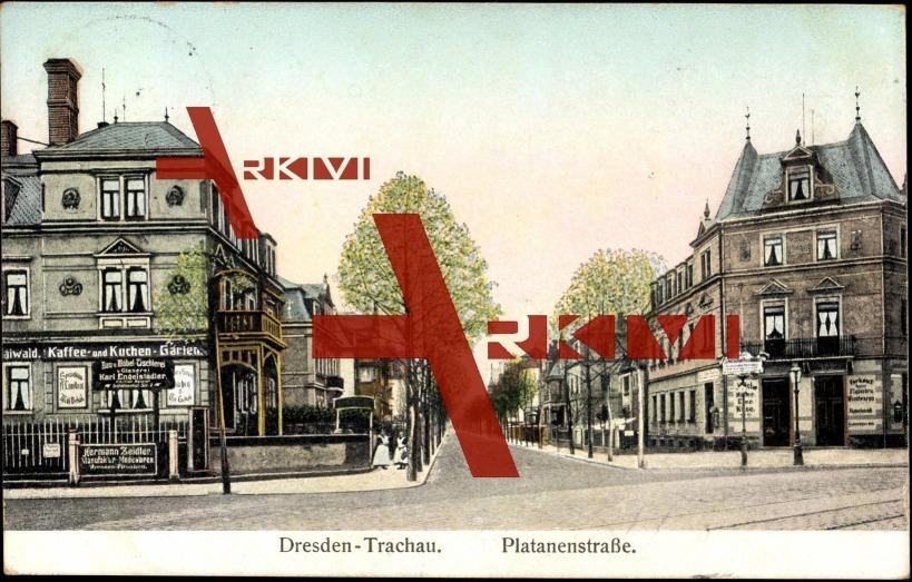 Trachau Dresden, Platanenstraße, Hermann Zeidler