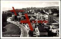 Stuttgart, Blick auf die Weißenhof Siedlung, Bauhaus