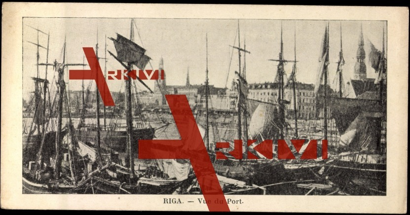 Mini Ak Riga Lettland, Blick auf den Hafen
