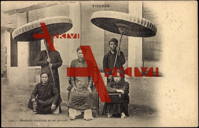 Volkstypen Vietnam, Mandarin et ses parasols