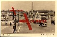 Paris CPA 75, La Place de la Concorde, Obelisque