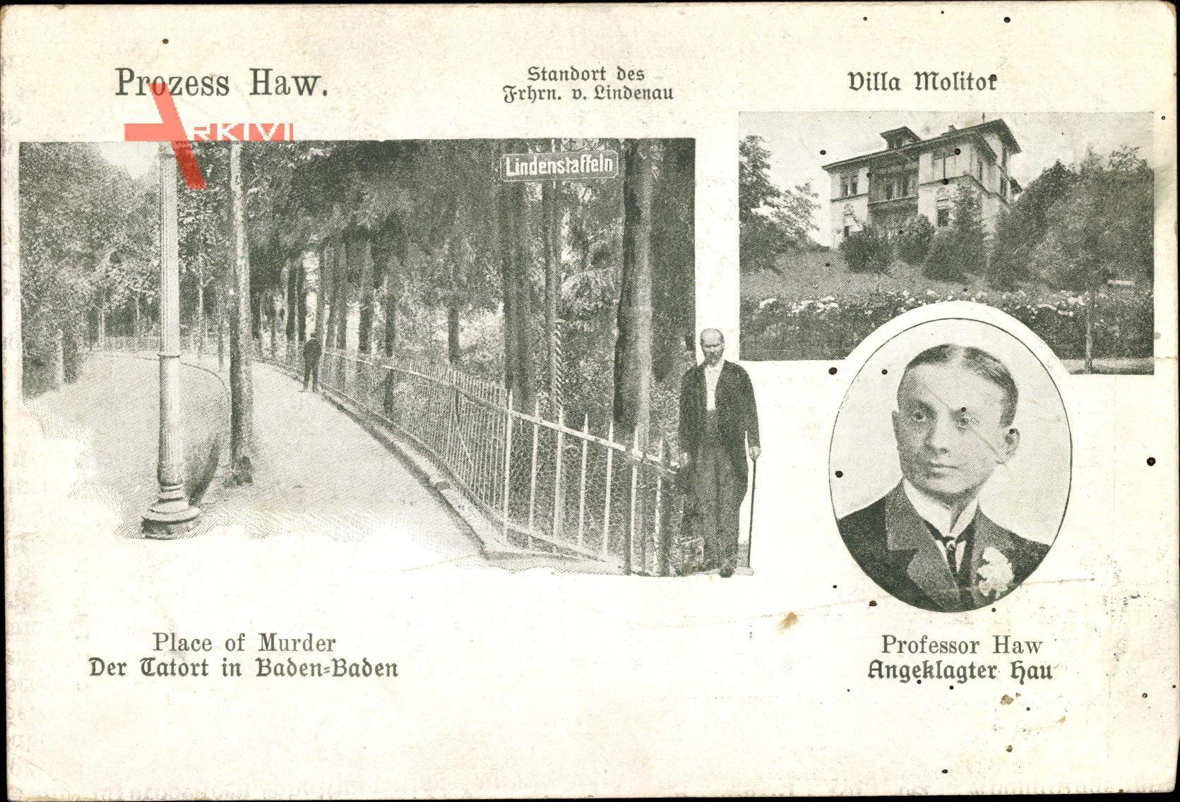 Baden Baden am Schwarzwald, Porträt Carl Hau Professor Haw, Tatort Lindenstaffeln, Villa Molitor