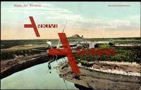 Hallig Nordstrandischmoor, Küste der Nordsee, Boot