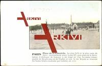 Paris CPA 75, Place de la Concorde, Carosse