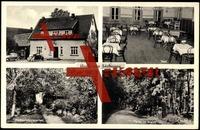 Fürstenau Vechelde,Besitzer Adolf Heinrich, Saal der Gaststätte Heinrich, Restaurationsgarten, Partie im Walde
