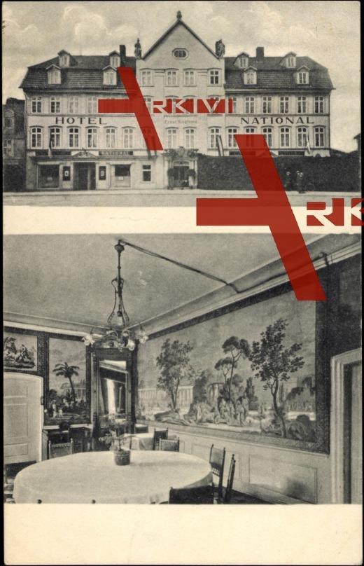 Göttingen, Blick ins Hotel und Cafe National