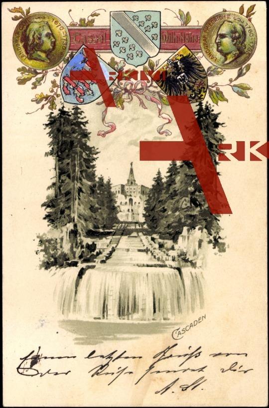 Wappen Kassel, Blick auf die Cascaden