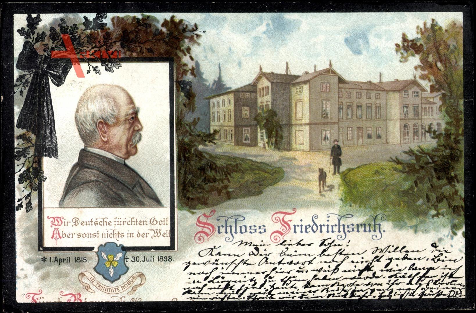 Aumühle, Schloss Friedrichsruh, Portrait Bismarck