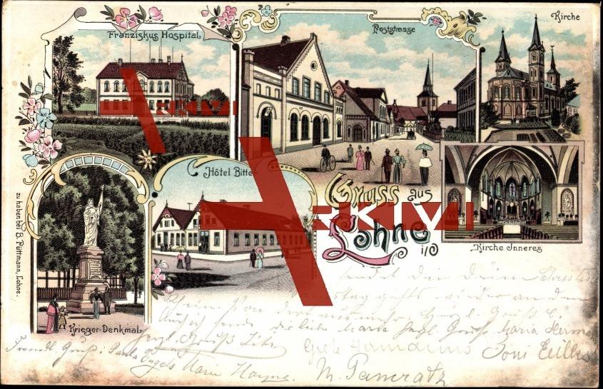 Lohne, Kirche, Poststraße, Franziskus Hospital