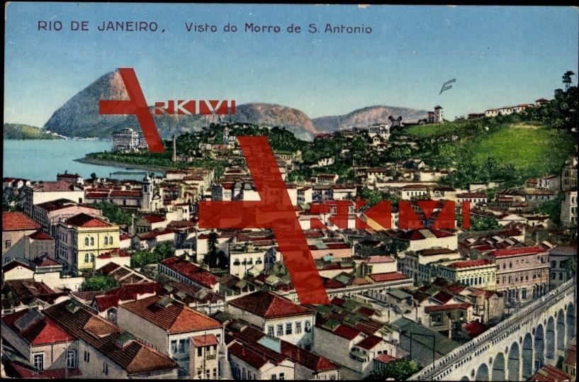 Rio de Janeiro vom Hügel des Sankt Antonio aus gesehen
