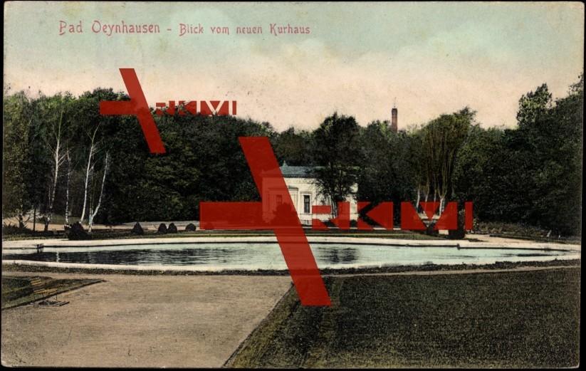 Bad Oeynhausen, Blick vom neuen Kurhaus in den Park
