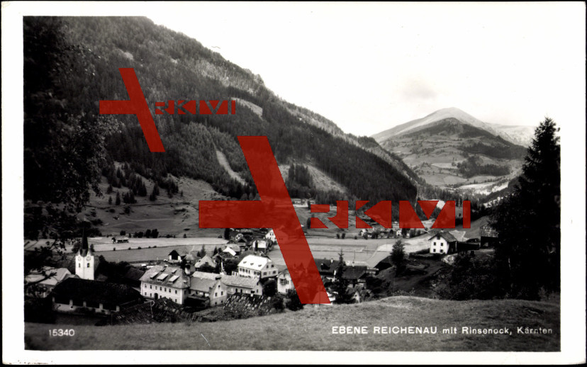 Reichenau Kärnten, Ortschaft mit Rinsenock