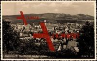 Gablonz, Stadtansicht, Isergebirge, Rathaus