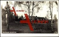 Polaun, Blick auf die Waldbaude hinter Birken