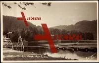 Gérardmer Vosges, Kleiner See mit Kanusteg