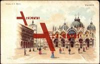 Venedig, Cjiesa di S. Marco, Platz, Passanten