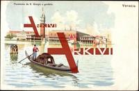 Venedig, Panorama da S. Giorgio e gondola, Turm