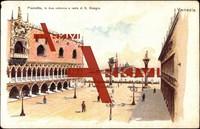 Venedig, Piazzetta, due colonne e isola di Giorgi