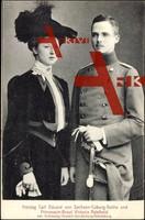 Carl Eduard von Sachsen und Prinzessin V. Adelheid