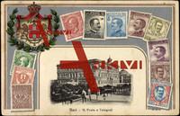 Briefmarken Bari Puglia, R. Poste e Telegrafi