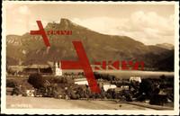 Mondsee Oberösterreich, Ort mit See und Berg