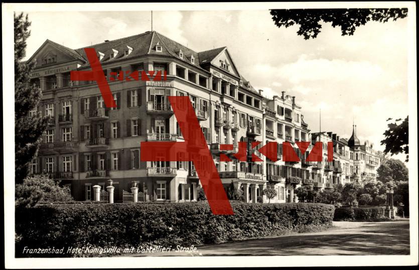 Franzensbad, Hotel Königsvilla mit Cartellieri Str.