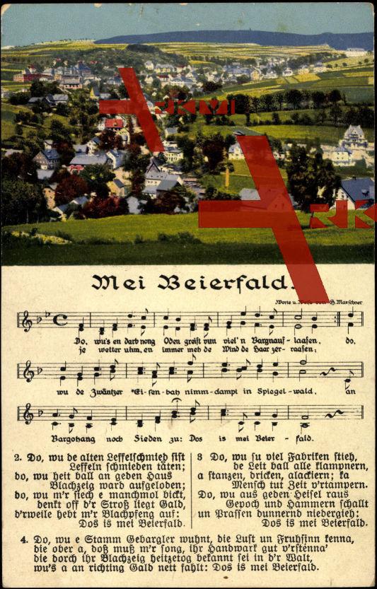 Lied Grünhain Beierfeld, Blick auf den Ort, Lied