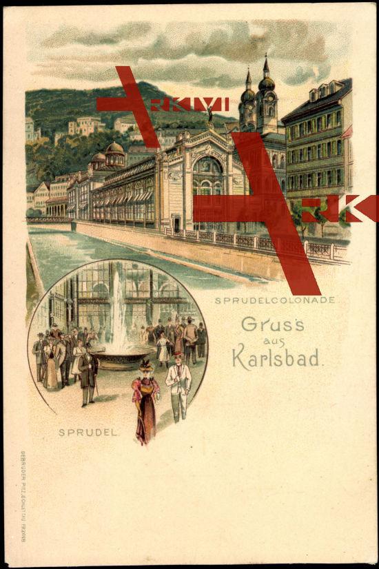 Künstler Karlsbad, Sprudelcolonade, Besucher