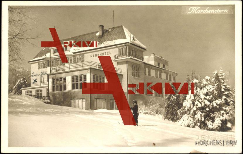 Morchenstern Liberecky Kraj, Parkhotel, Schnee