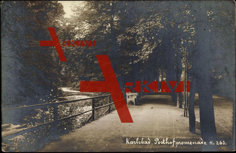 Karlsbad, Blick in die Posthofpromenade