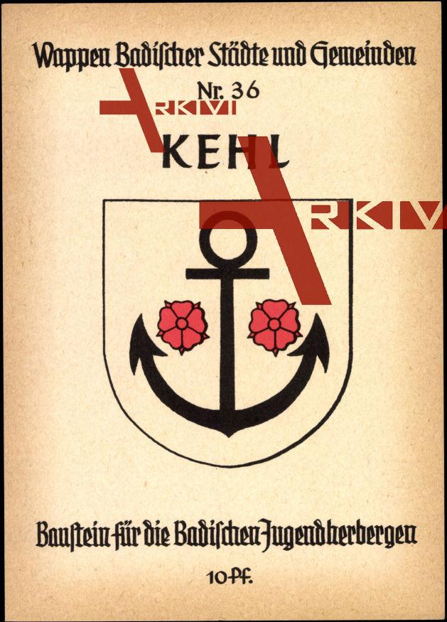 Wappen Kehl, Badische Jugendherberge Wappen