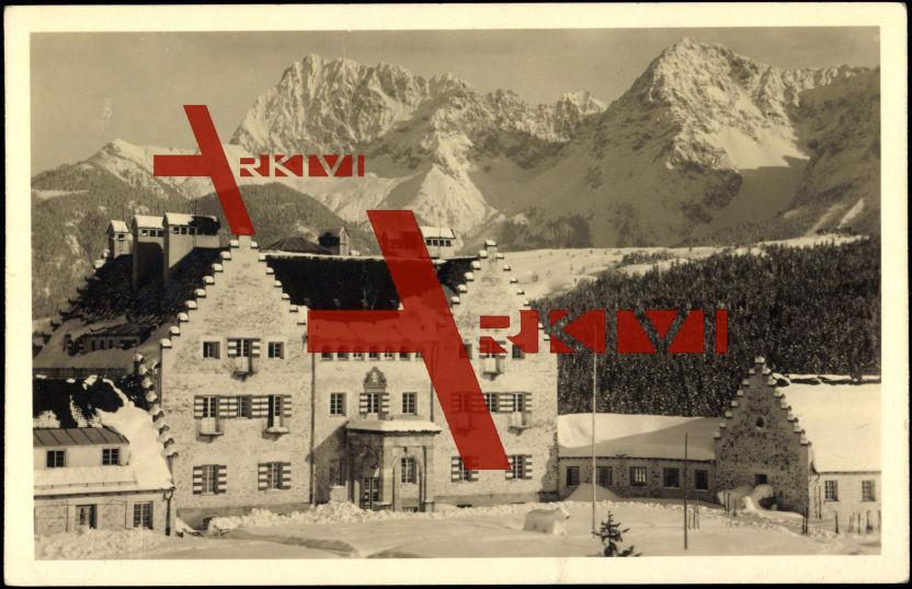 Kranzbach, Blick auf ein Gebäude, Karwendel