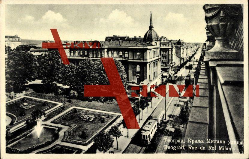 Belgrad Serbien, Straßenbahn in König Milan Straße