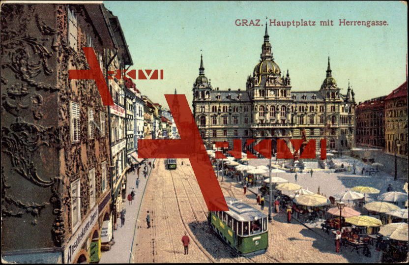 Graz Steiermark, Hauptplatz, Herrengasse, Zentrale