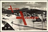 Harrachsdorf Liberecky Kraj, Ort im Schnee