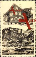 Oberstdorf, Blick auf Haus Übelhör, Gebirge